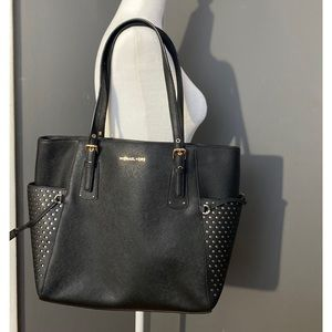 Micheal Kors Voyager Crossgrain Leather Tote